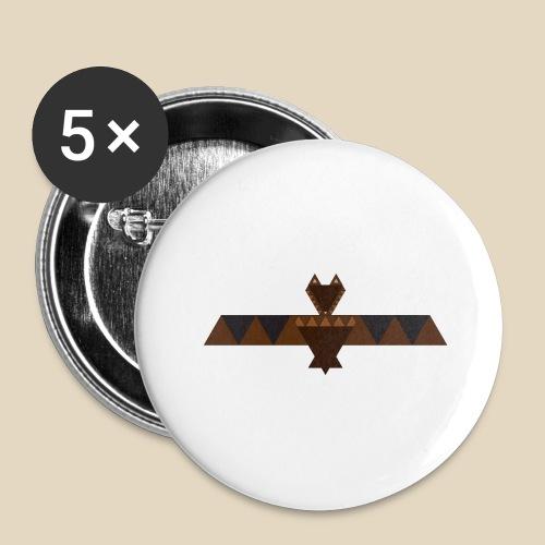 Bat - Lot de 5 grands badges (56 mm)