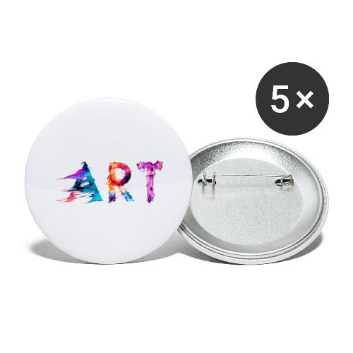Art - Lot de 5 grands badges (56 mm)