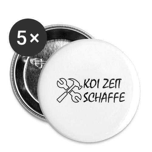 KoiZeit - Schaffe - Buttons groß 56 mm (5er Pack)