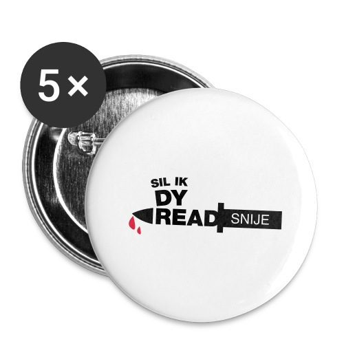 Read snije - Buttons groot 56 mm (5-pack)