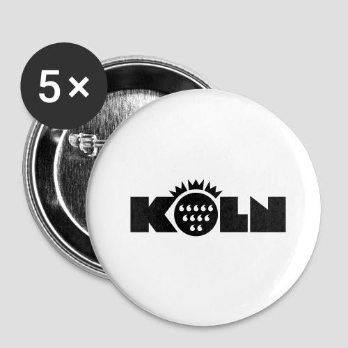 Köln Wappen modern - Buttons groß 56 mm (5er Pack)