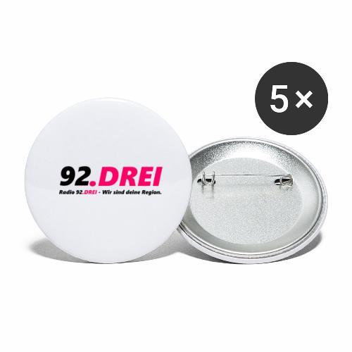 Schriftlogo - Buttons groß 56 mm (5er Pack)