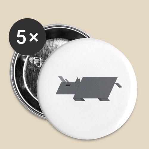 Rhino - Lot de 5 grands badges (56 mm)