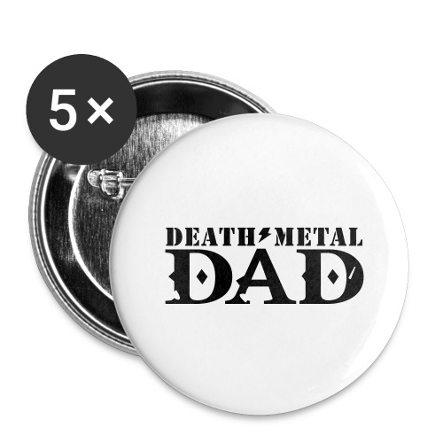 death metal dad - Buttons groot 56 mm (5-pack)
