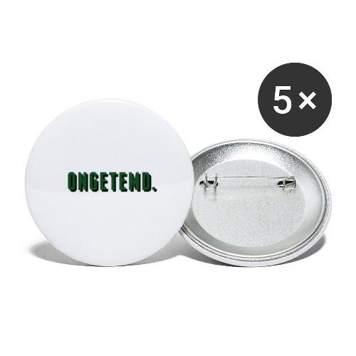 ONGETEMD. - Buttons groot 56 mm (5-pack)