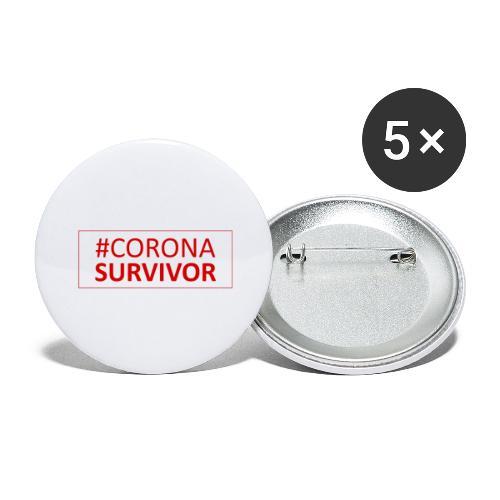 Corona Virus Survivor - Buttons large 2.2''/56 mm(5-pack)