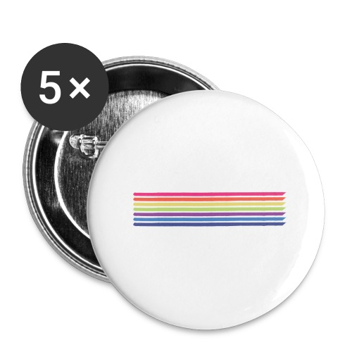 Colored lines - Buttons large 2.2''/56 mm (5-pack)