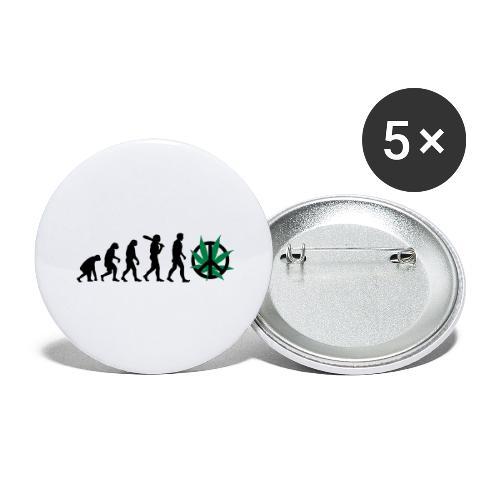 Evolution Cannabis - Buttons groß 56 mm (5er Pack)