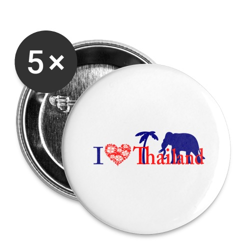 I love Thailand - Buttons large 2.2''/56 mm (5-pack)