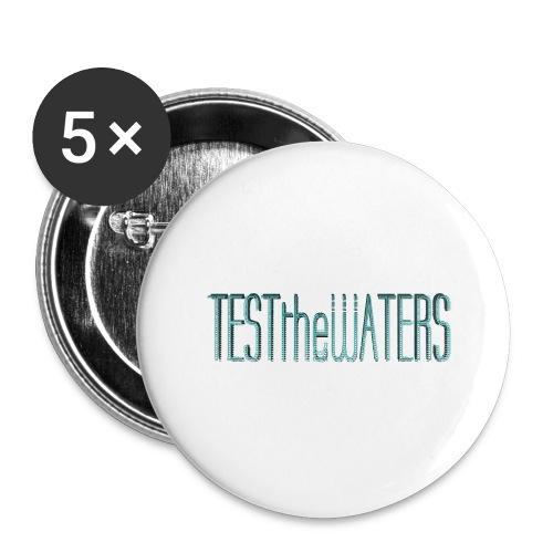 TESTtheWATERS BETA BLUE - Buttons large 2.2''/56 mm(5-pack)