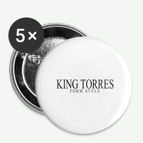 king torres - Paquete de 5 chapas grandes (56 mm)