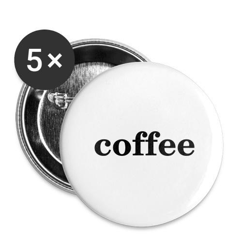 Kaffee - Buttons groß 56 mm (5er Pack)