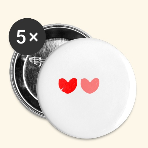 3hrts - Buttons/Badges stor, 56 mm (5-pack)