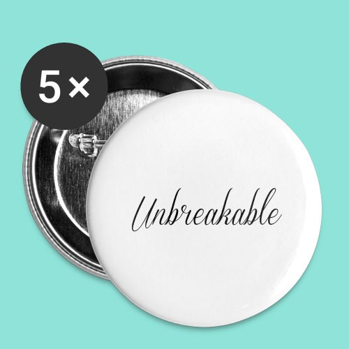 Unbreakable - Buttons groot 56 mm (5-pack)