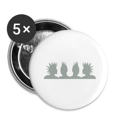 Punk Heads - Buttons large 2.2''/56 mm(5-pack)