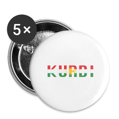 KURDI LOGO - Buttons groß 56 mm (5er Pack)