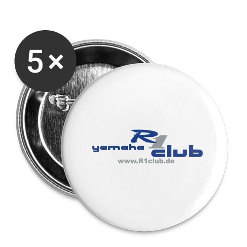 R1club Logo blau - Buttons groß 56 mm (5er Pack)