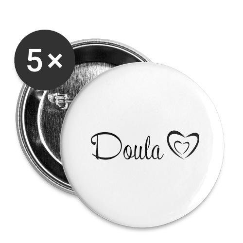 doula sydämet - Rintamerkit isot 56 mm (5kpl pakkauksessa)