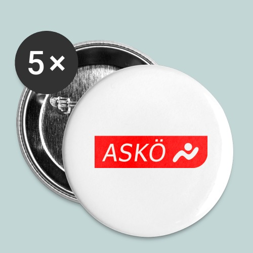 askoelogo1 - Buttons groß 56 mm (5er Pack)