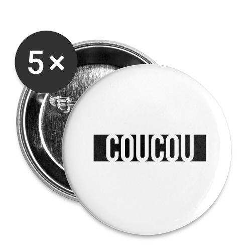 Coucou [1] Black - Lot de 5 grands badges (56 mm)