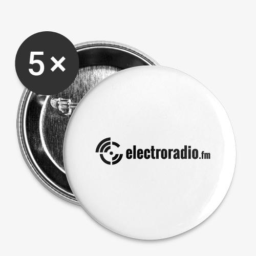 electroradio.fm - Buttons groß 56 mm (5er Pack)