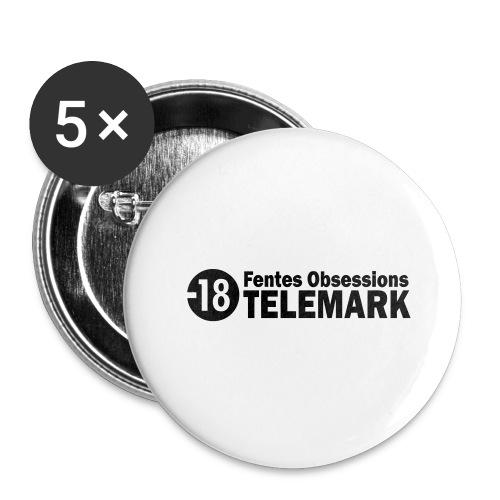 telemark fentes obsessions18 - Lot de 5 grands badges (56 mm)