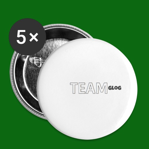 Team Glog - Buttons large 2.2''/56 mm(5-pack)