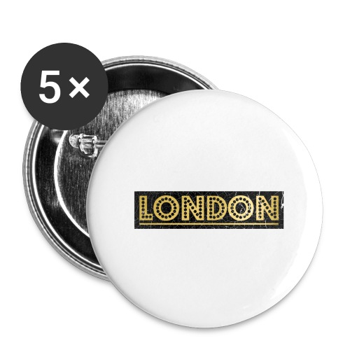 LONDON - Buttons large 2.2''/56 mm (5-pack)