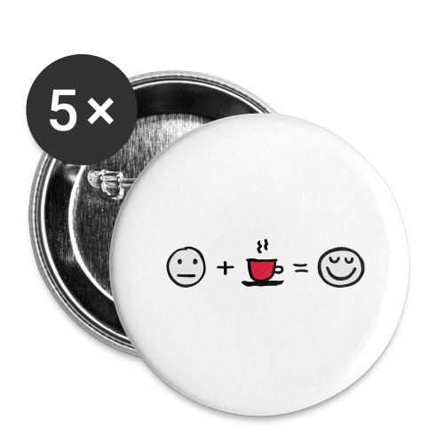 Coffee makes me happy - Buttons groß 56 mm (5er Pack)