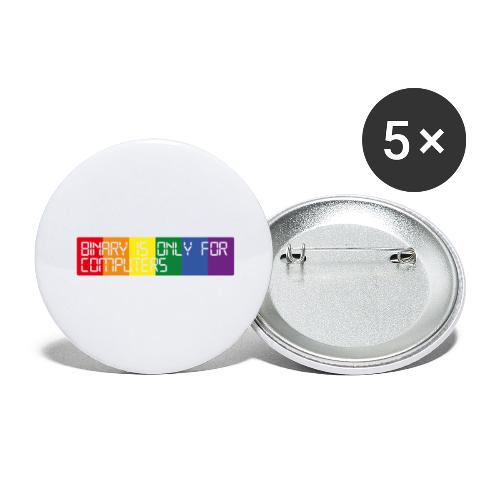 Binary is only for computers - Buttons large 2.2''/56 mm(5-pack)
