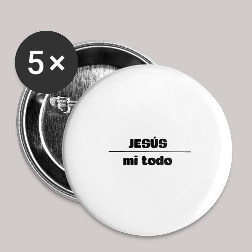 Jesús, mi TODO - Paquete de 5 chapas grandes (56 mm)