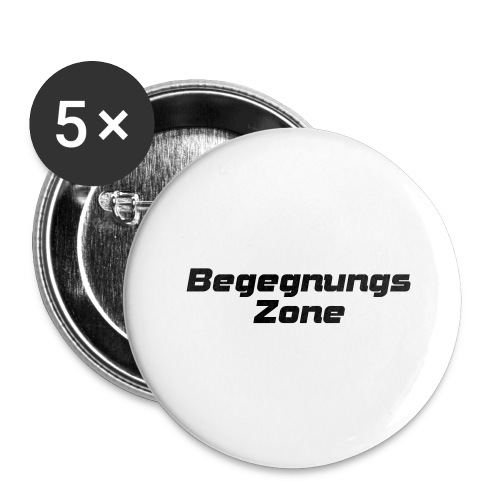 Begegnungszone - Buttons groß 56 mm (5er Pack)