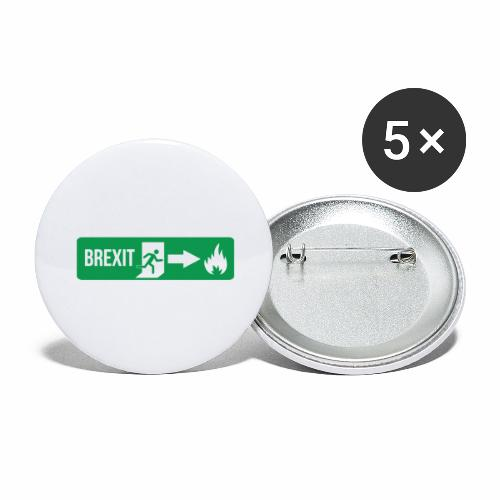 Fire Brexit - Buttons large 2.2''/56 mm(5-pack)