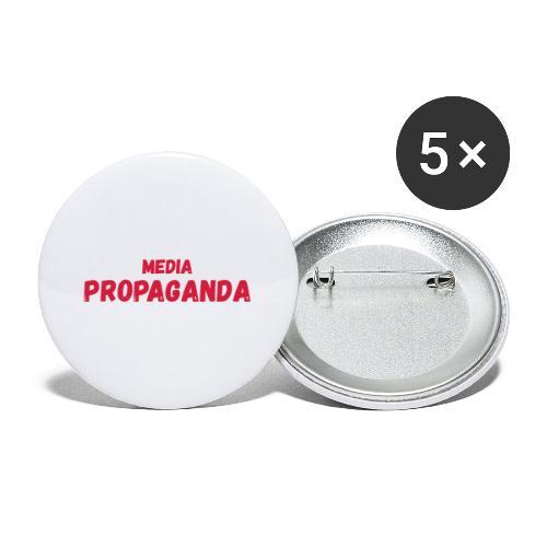 Media propaganda, propagande, fake news, mensonge - Lot de 5 grands badges (56 mm)