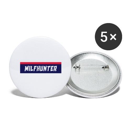 MILFHUNTER Premium Logo - Buttons groß 56 mm (5er Pack)