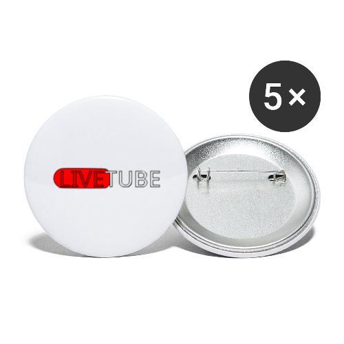 Livetube - Buttons/Badges stor, 56 mm (5-pack)
