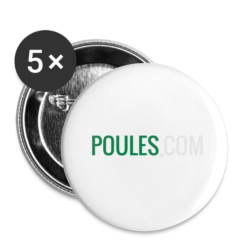 Poules-com - Buttons groot 56 mm (5-pack)