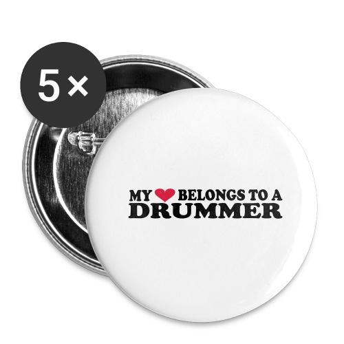 MY HEART BELONGS TO A DRUMMER - Stor pin 56 mm (5-er pakke)