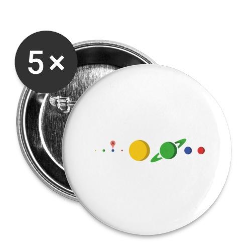Kugel Maps - Buttons groß 56 mm (5er Pack)