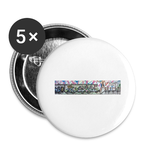 Pye and Fek No Escape - Buttons large 2.2''/56 mm(5-pack)