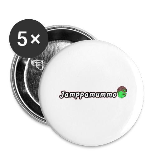 Jamppamummo! - Rintamerkit isot 56 mm (5kpl pakkauksessa)