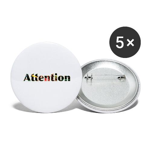 Attention - Buttons large 2.2''/56 mm(5-pack)