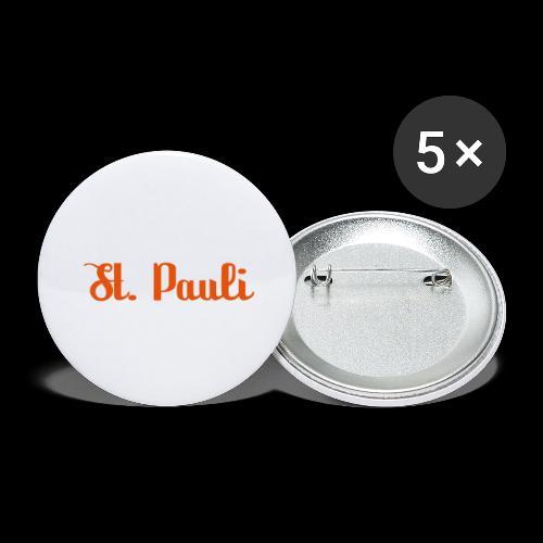 St. Pauli Logotype - Buttons groß 56 mm (5er Pack)