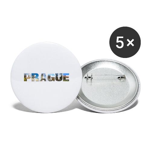 Prague CZ Capital Sights - Buttons groß 56 mm (5er Pack)