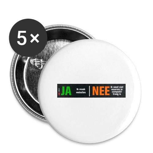 Ja ik maak websites - Buttons groot 56 mm (5-pack)