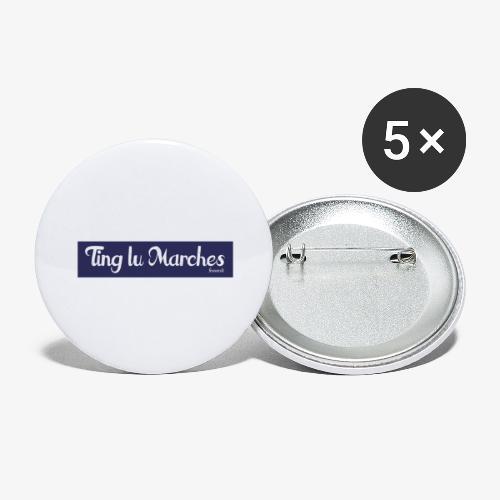Ting lu Marches - Confezione da 5 spille grandi (56 mm)