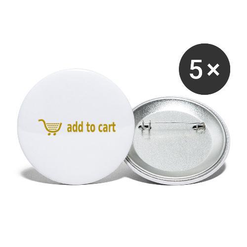 In den Warenkorb - Add to cart - Buttons groß 56 mm (5er Pack)