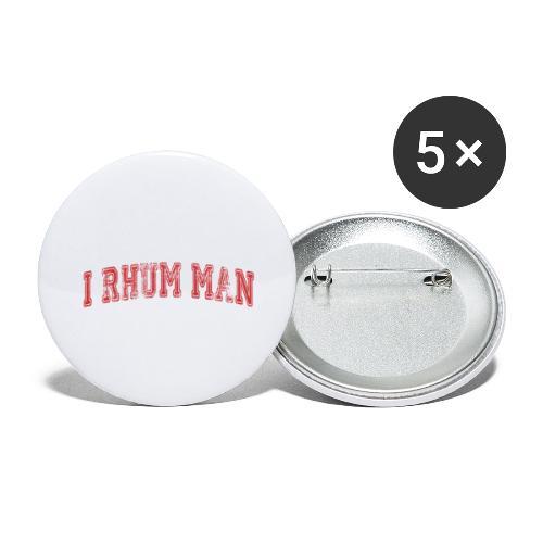 I RHUM MAN SPORT - Lot de 5 grands badges (56 mm)