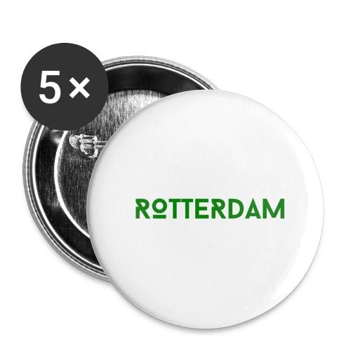 Rotterdam (Groen) - Buttons groot 56 mm (5-pack)