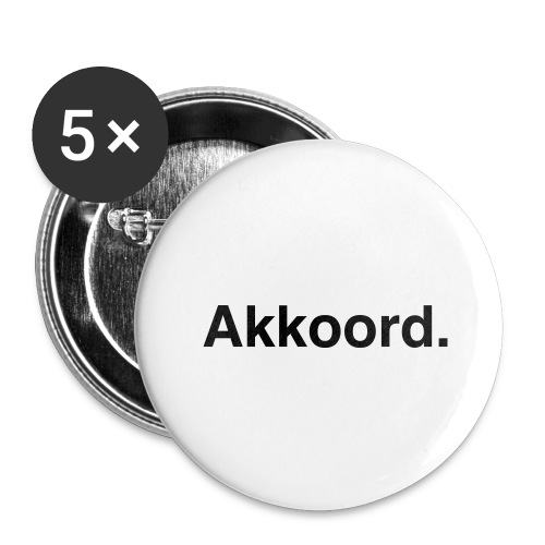 Akkoord - Buttons groot 56 mm (5-pack)